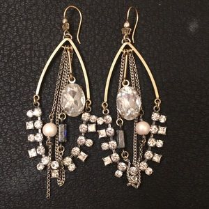Juicy Couture Boho Silver Bling Dripping Earrings